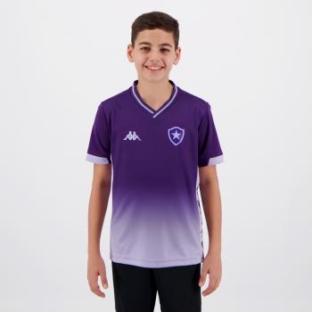 Camisa Kappa Botafogo Goleiro I 2019 Infantil Roxa