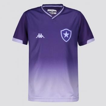Camisa Kappa Botafogo Goleiro I 2019 Juvenil Roxa