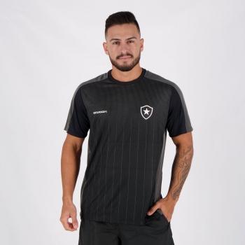 Camiseta Botafogo Mesh Preta e Chumbo