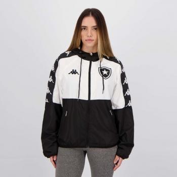 Jaqueta Kappa Botafogo Corta Vento 2021 Feminina Preta