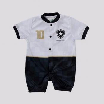Macacão Botafogo Style Branco e Preto