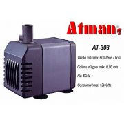 Atman Bomba Sub.- AT-303 - 600 L/H - Coluna 90cm - 220V