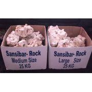 Rochas sansibar - saco fechado 25 Kg (médias)