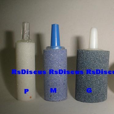 Pedra porosa cilindrica média