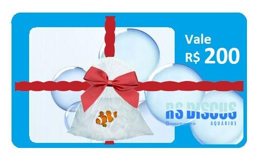 RsDiscus Vale Presente de R$ 200,00