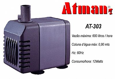 Atman Bomba Sub.- AT-303  - 600 L/H - Coluna 90cm - 110V
