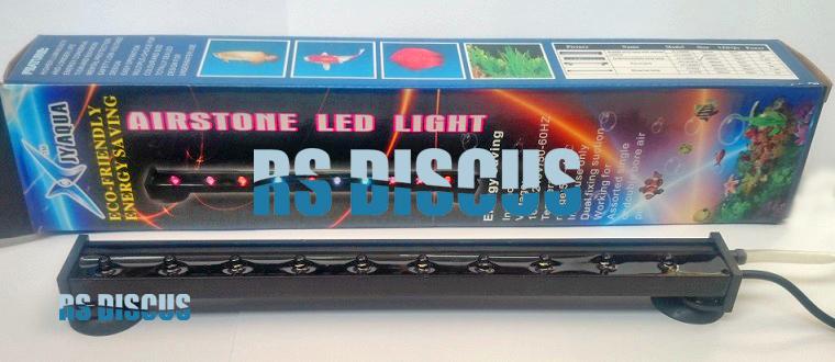 Jy Aqua Cortina de ar com luz de led LQ-550 (19 leds coloridos) 55 cm