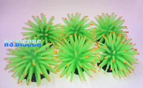 Soma Fish Coral Anemona verde (conjunto com 6 unidades) 3,5 cm