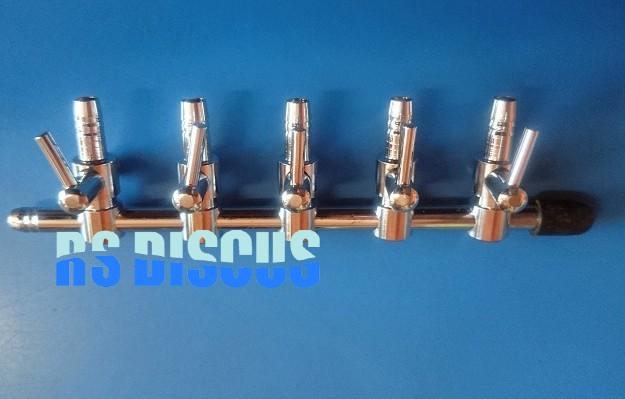 Aleas Divisor de ar em metal 5 saídas