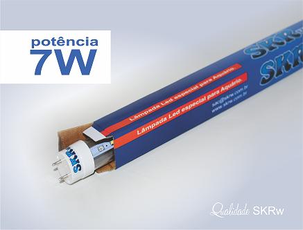 SKRW Lampada Led T8 07W 45 cm (Azul e Branca)( Novidade )