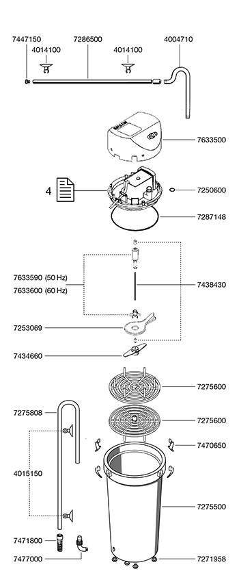Eheim Canister Classic 2217 - 110 V ( p/ aqua até 600 Lts )