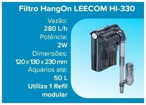 Leecom Filtro Hang On ultra-fino HI-330 - 280l/h (aqua até 50l) - 220v