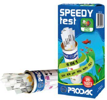 Prodac Speedy Test (Nitrito, Nitrato, GH, KH, Cloro, PH) - 25 Testes DOCE