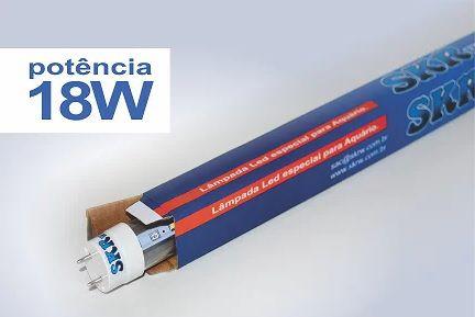 SKRW Lampada Led T8 18 W 120 cm ( Azul)( Novidade )