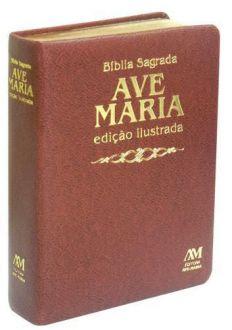 BIBLIA SAGRADA ILUSTRADA LUXO MEDIA MARROM