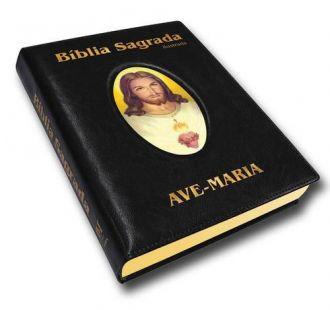 BIBLIA SAGRADA CATÓLICA ILUSTRADA LUXO GRANDE PRETA