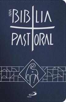 BÍBLIA SAGRADA CATOLICA PASTORAL BOLSO ZÍPER AZUL PAULUS