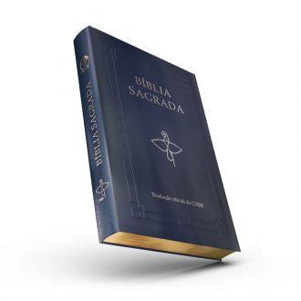Bíblia Sagrada Letra Grande Tradução CNBB Luxo Capa Azul