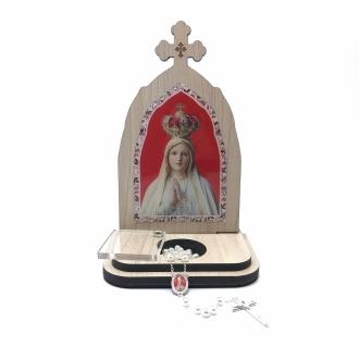 Capela com Porta Intenções e Terço Nossa Senhora de Fátima