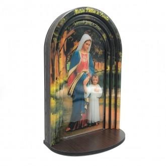 Capela em MDF Resinado Maria Passa na Frente Moldura Modelo 3D - 24cm