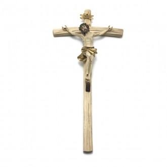 Crucifixo de Parede Resina Tradicional  35 cm de Altura