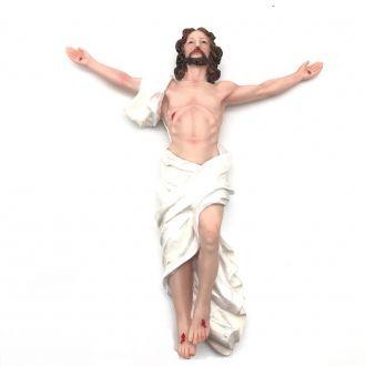 Imagem Jesus Ressuscitado Parede Grande Resina 30 cm