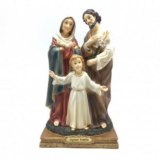 Imagem Sagrada Família de Nazaré Resina Linha Premium 22 cm