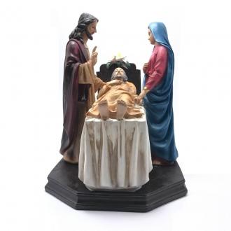 Imagem Vida Eterna - São José, Jesus e Maria Resina 30 cm