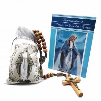 Kit Terço e Devocionário Nossa Senhora das Graças