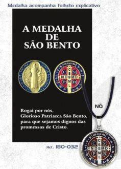 PINGENTE COM CORDÃO SÃO BENTO