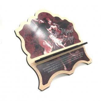 Porta Bíblia de Madeira MDF São Miguel Arcanjo