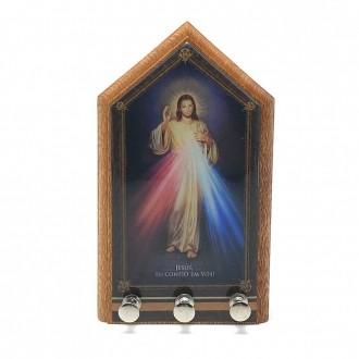 PORTA CHAVES DE PAREDE JESUS MISERICORDIOSO