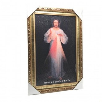 QUADRO JESUS MISERICORDIOSO COM MOLDURA