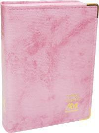 Bíblia Sagrada Bolso com Capa Almofadada – iguana rosa