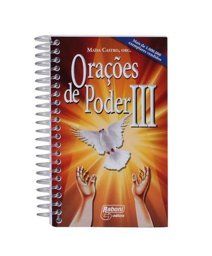 Livro Orações de Poder III - Maisa Castro (Espiral)