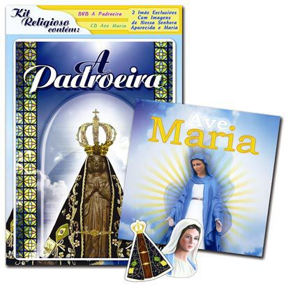 KIT BLISTER RELIGIOSO - A PADROEIRA + AVE MARIA (DVD + CD)