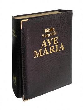 BÍBLIA CATOLICA SAGRADA AVE MARIA CAPANGA BOLSO MARROM