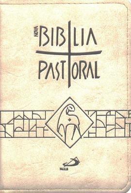 BÍBLIA SAGRADA CATOLICA PASTORAL BOLSO ZÍPER CREME PAULUS