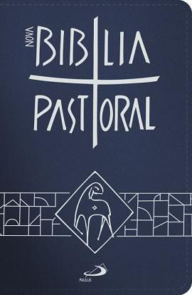 BÍBLIA SAGRADA CATOLICA PASTORAL BOLSO ENCADERNADA AZUL PAULUS