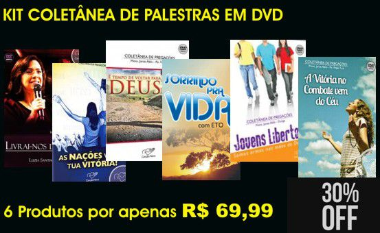 KIT COLETÂNEA DE PALESTRAS EM DVD
