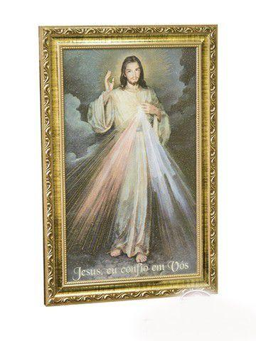 QUADRO JESUS MISERICORDIOSO - RESINADO