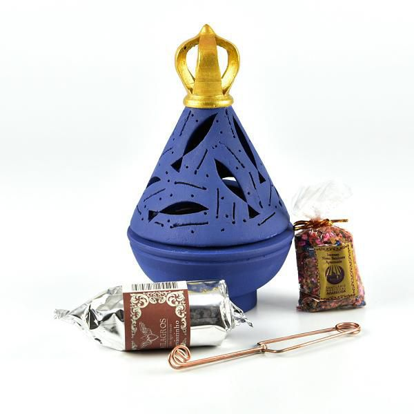 Kit Incensário Nossa Senhora Aparecida Manto Azul