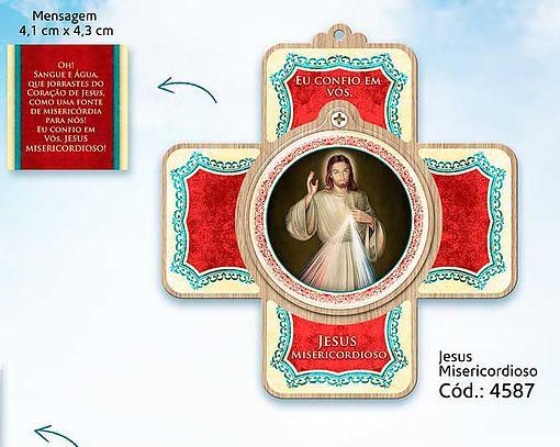 Cruz Porta Oração Jesus Misericordioso