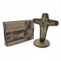 Crucifixo Cruz da Unidade de Mesa Ouro Velho 12 cm