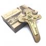 Crucifixo Cruz da Unidade Parede Ouro Velho 12 cm