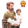 Imagem São José com Menino Jesus Resina Grande 30 Cm