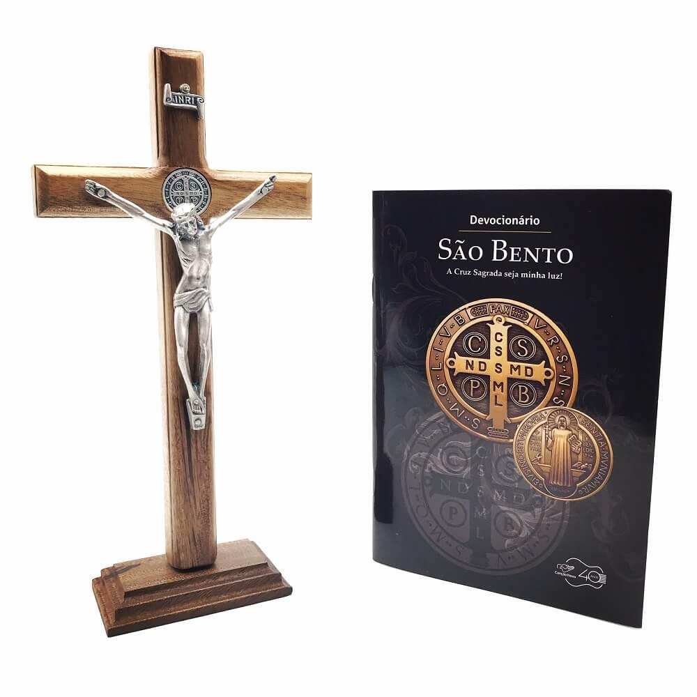 Kit São Bento A Cruz Sagrada Seja Minha Luz