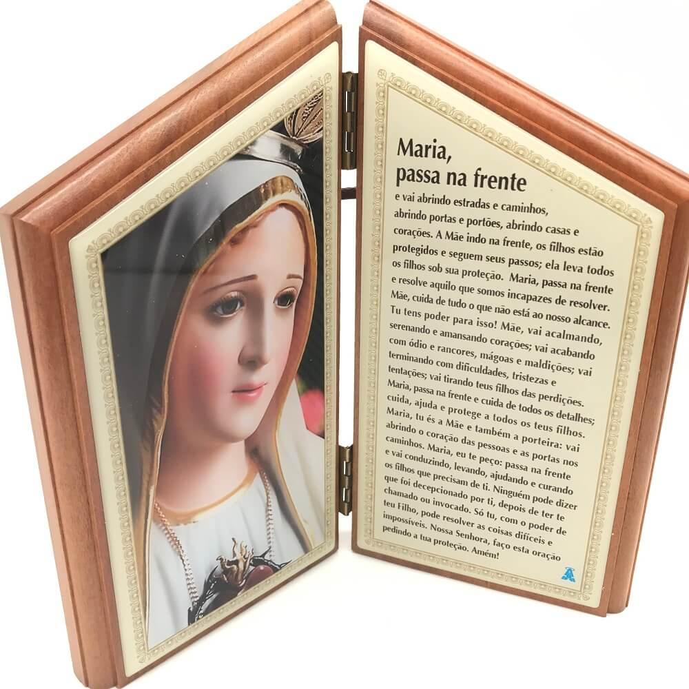 Adorno Oração de Mesa Maria Passa Na Frente