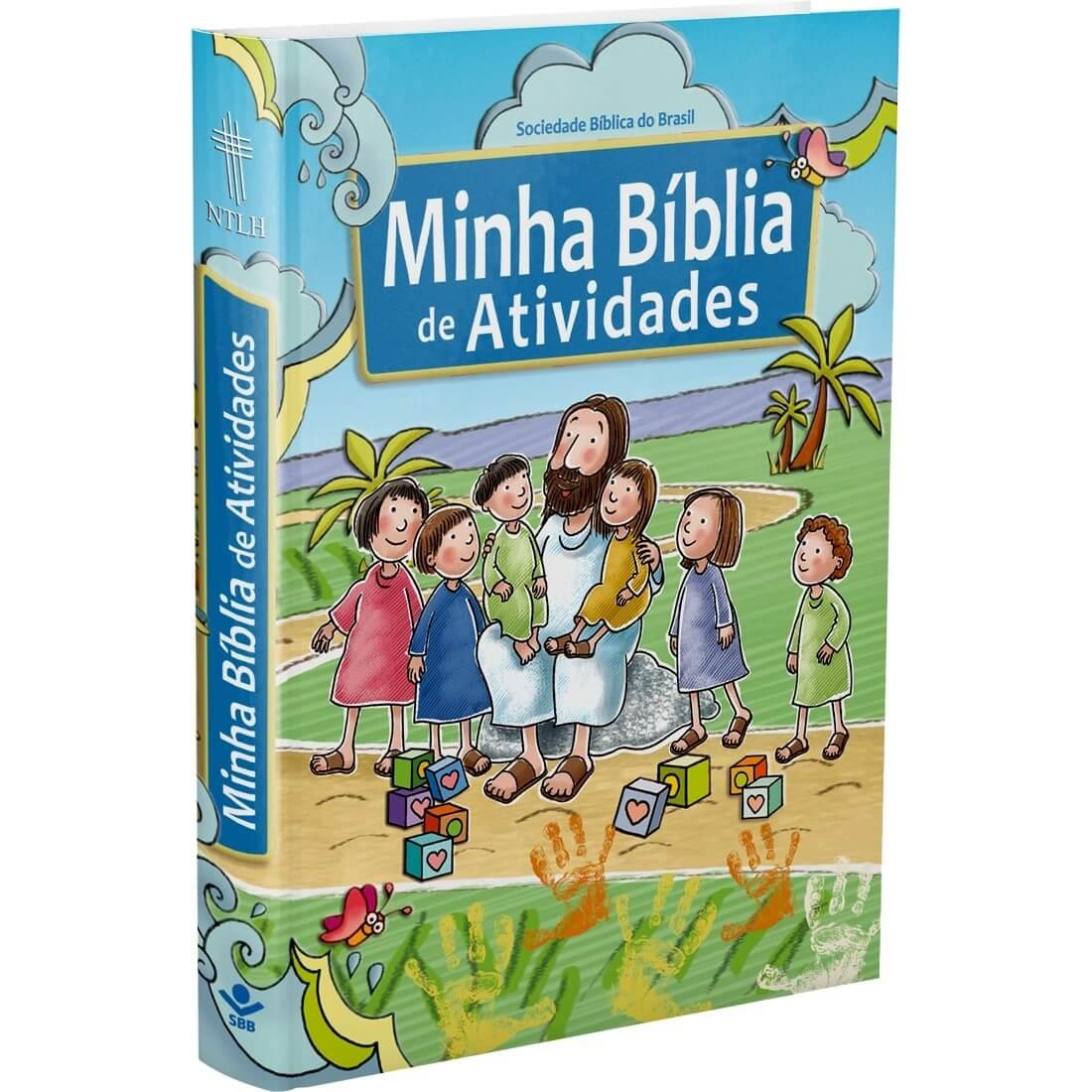 BIBLIA INFANTIL MINHA BÍBLIA DE ATIVIDADES ILUSTRADA CAPA DURA