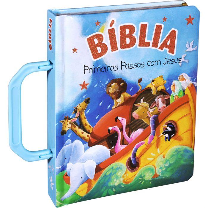 Bíblia Primeiros Passos Com Jesus - Alça Azul